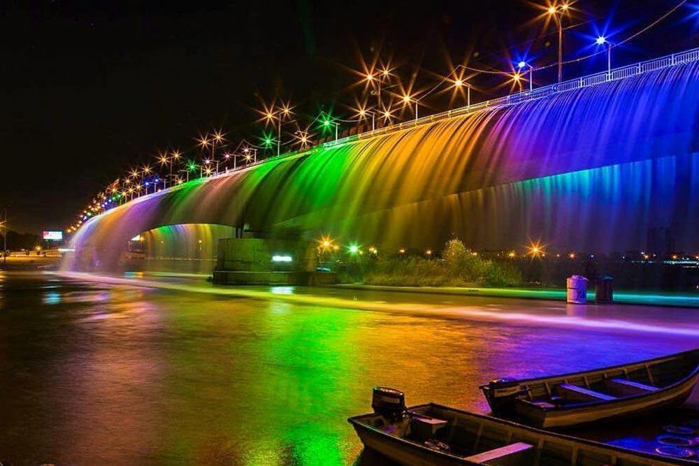 معرفی آبشار مصنوعی رنگین کمان – بلند ترین آبشار ایران